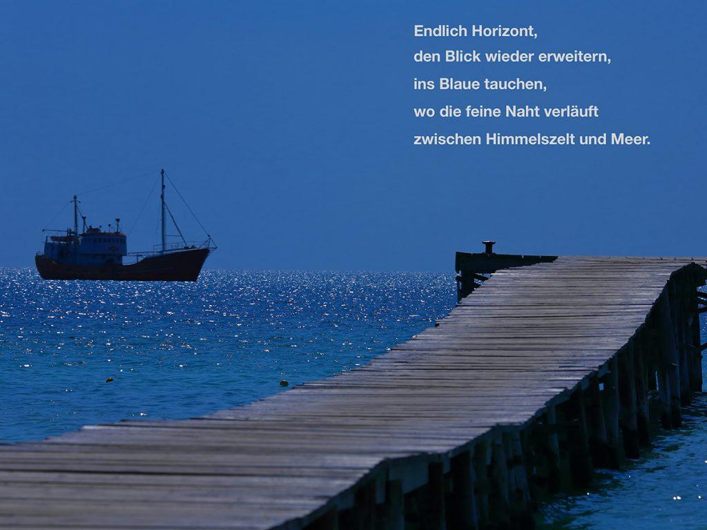 Schiff am horizont gedicht